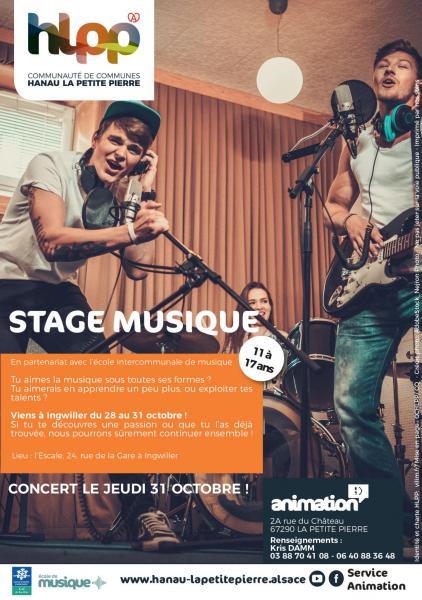 Affiche service animation stage musique