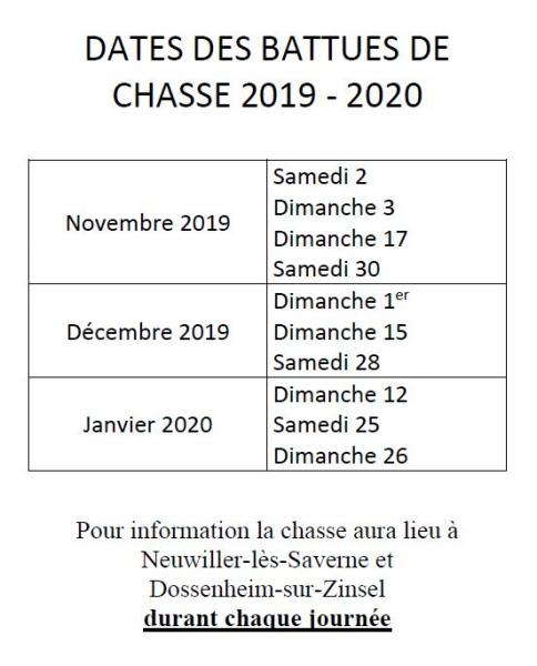 Chasses2019 2020