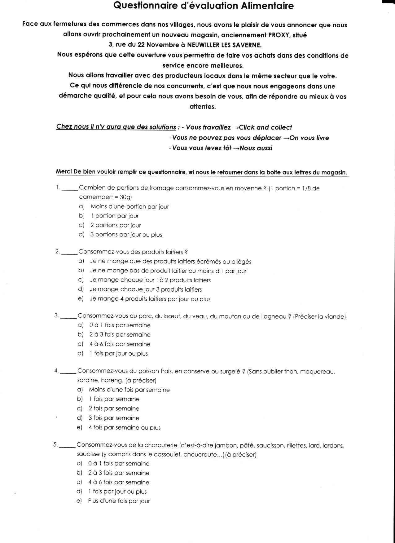 Questionnaire p1
